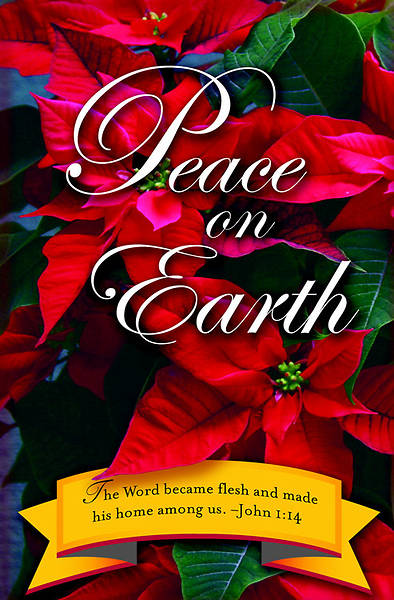 Peace on Earth Christmas Poinsettia Bulletin 2012, Regular Size (Package of 50)