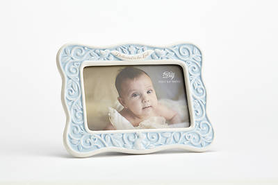 Dedication to the Lord Photo Frame Ceramic  -Blue