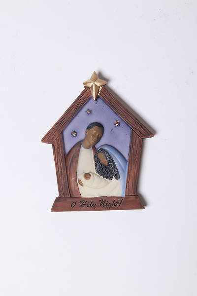 Picture of Flat-Style Resin Holy Family Manger Ornament