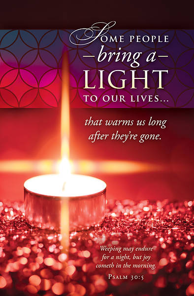 Picture of Bring a Light - Tealight Candle Psalm 30:5 Regular Size