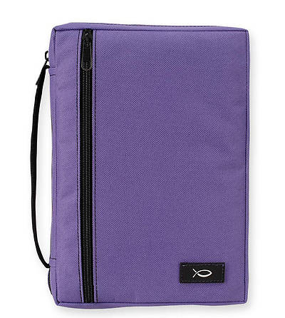 Purple Canvas Bible Cover - Large