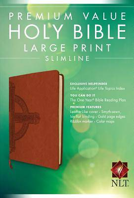 Picture of Premium Value Slimline Bible Large Print NLT, Cross