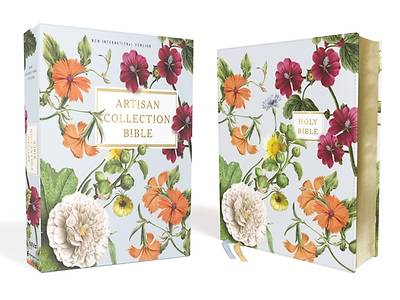 Picture of Niv, Artisan Collection Bible, Leathersoft, Blue Floral, Red Letter Edition, Comfort Print