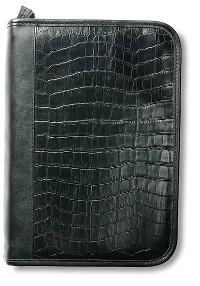 Alligator Leather-Look Organizer Black Lg