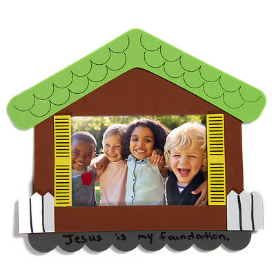 Picture of Vacation Bible School (VBS) 2020 Concrete and Cranes Wise Builder Photo Frame Craft Pack Pkg 10