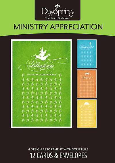 Words of Appreciation - Ministry Appreciation Boxed Cards - Box of 12
