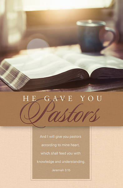 Picture of He Gave You Pastors Appreciation Regular Size Bulletin
