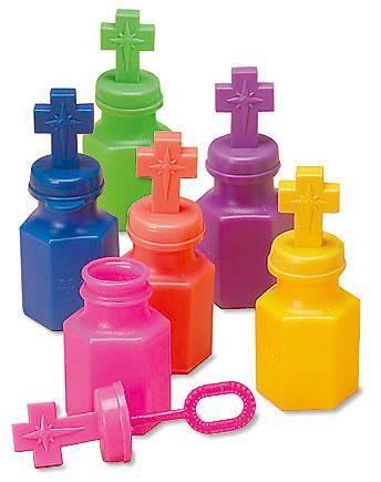 Picture of Plastic Cross Bubble Bottle