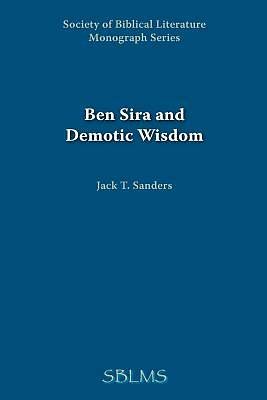 Ben Sira and Demotic Wisdom