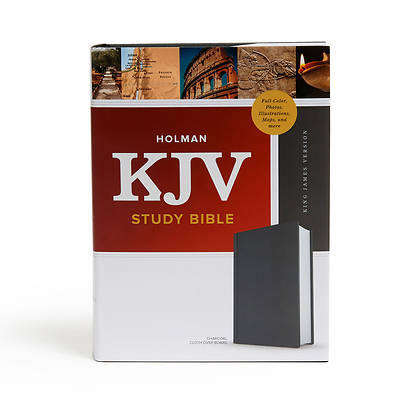 Picture of KJV Study Bible, Full-Color, Charcoal Cloth-Over-Board