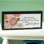 Gift to God Mini Plaque