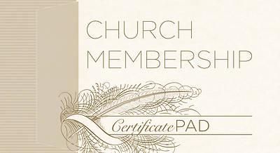Picture of New Church Member Membership Certificate