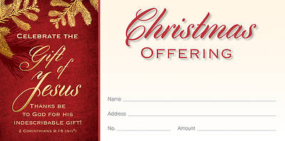 Picture of Celebrate the Gift of Jesus Christmas Offering Envelope