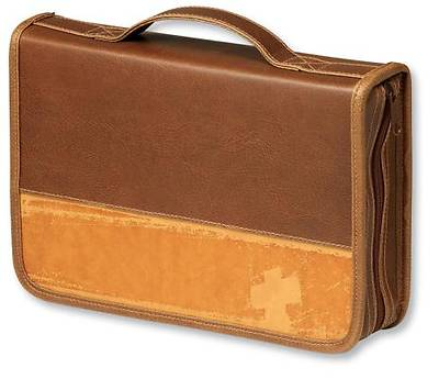 Rugged Cross Large Tan Bible Cover