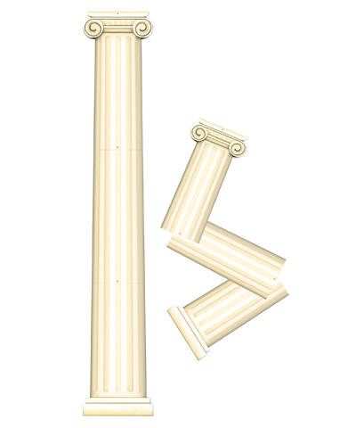 Group VBS 2013 Athens Jointed Greek Column Decoration