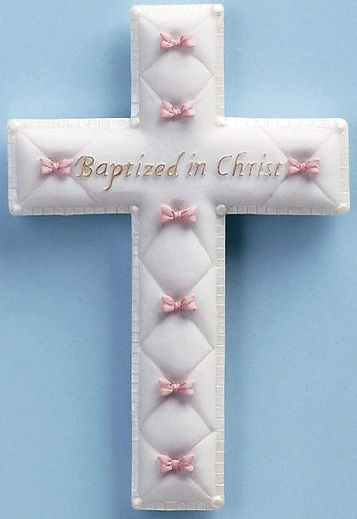 Picture of Baptism Baby Girl Wall Cross