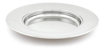 Communion Bread Plate - Polished Aluminum