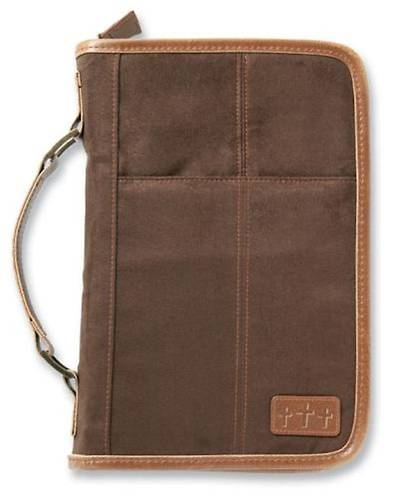 Picture of Bible Cover Aviator Brown Suede Extra Large