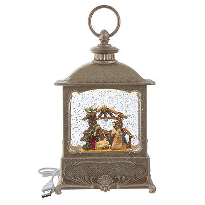 Picture of LED Battery Nativity Water Lantern