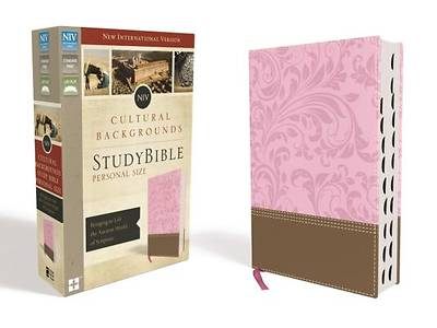 NIV, Cultural Backgrounds Study Bible, Personal Size, Imitation Leather, Pink/Brown, Indexed, Red Letter Edition