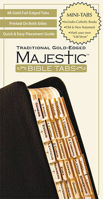 Majestic Bible Tabs, Traditional Gold-Edged, Mini