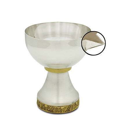 MISSION CHALICE WITH APPLIED POUR SPOUT