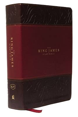 The King James Study Bible, Imitation Leather, Burgundy, Indexed, Full-Color Edition