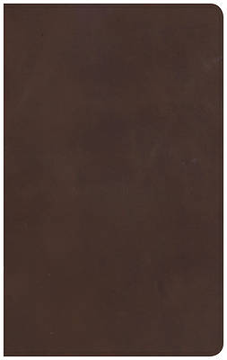 Picture of NKJV Ultrathin Reference Bible, Brown Genuine Leather
