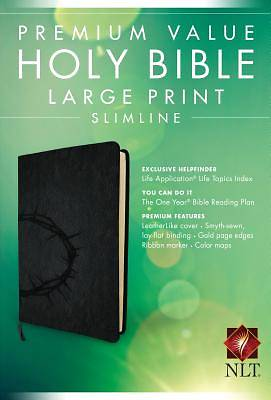 Picture of Premium Value Slimline Bible Large Print NLT, Crown