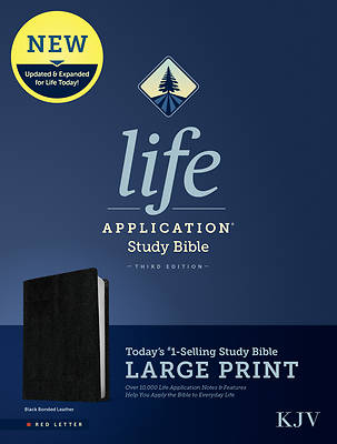 Picture of KJV Life Application Study Bible, Third Edition, Large Print (Red Letter, Bonded Leather, Black)
