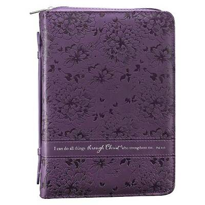 I CAN DO ALL THINGS PURPLE BIBLE COVER