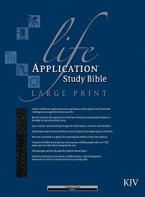 Picture of Bible KJV Life Application Study Large Print