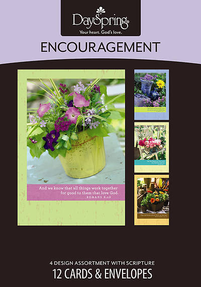 Bright Blossoms - Encouragement Boxed Cards - Box of 12
