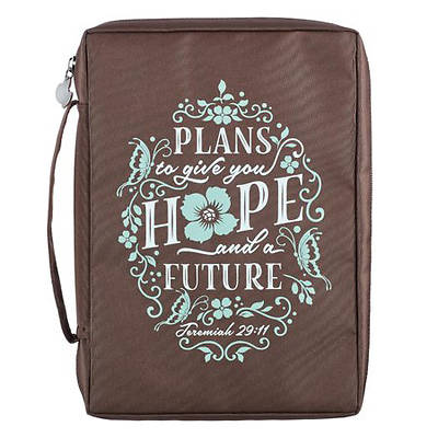 Picture of Bible Cover Hope and Future Brown Large