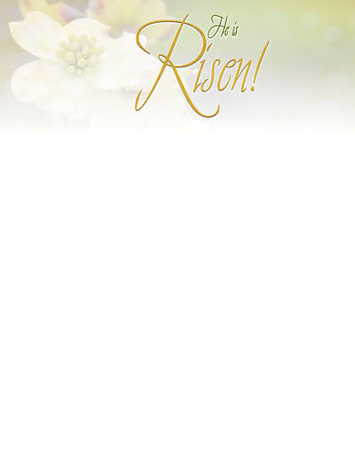 Picture of Risen Easter Dogwood Letterhead (Pkg of 50)