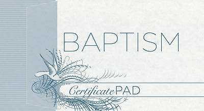 Picture of Baptism Certificate Pad Pad