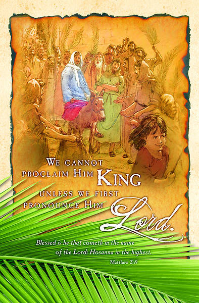 Palm Sunday Bulletin Regular (Package of 100)