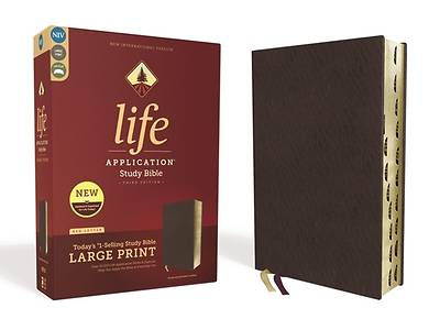 Niv, Life Application Study Bible, Third Edition, Large Print, Bonded Leather, Burgundy, Indexed, Red Letter Edition