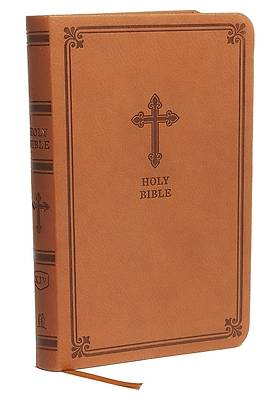 KJV Value Thinline Bible, Compact, Leathersoft, Brown, Red Letter Edition, Comfort Print