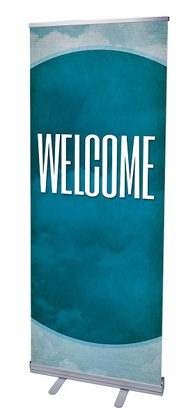 Celestial Welcome RollUp Banner with Stand