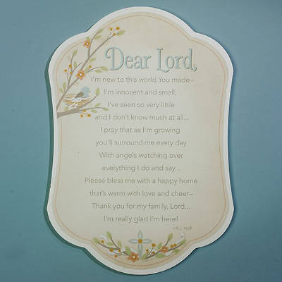 Dear Lord Baby Plaque