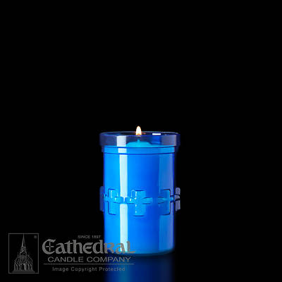 Picture of Cathedral Devotiona-Lites Plastic Offering Lights - 3 Day, Blue