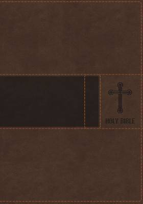 NIV, Gift Bible, Imitation Leather, Brown, Red Letter Edition