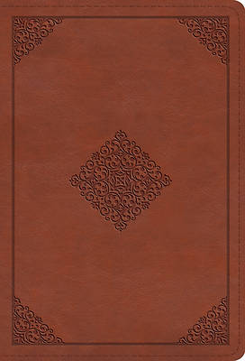Picture of ESV Large Print Compact Bible (Trutone, Terracotta, Ornament Design)