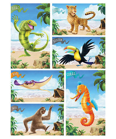 Picture of Vacation Bible School (VBS) 2018 Shipwrecked Giant Bible Memory Buddy Posters - Set of 6