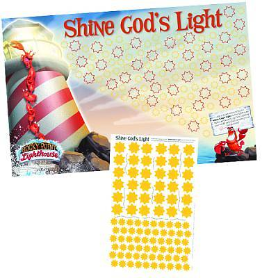 """Picture of Group's Weekend VBS 2012 """"Shine God's Light"""" Poster & Sticker Set"""