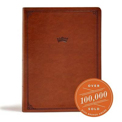 Picture of CSB Tony Evans Study Bible, British Tan Leathertouch