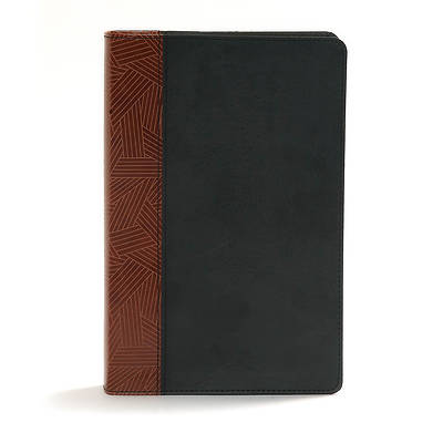 Picture of CSB Rainbow Study Bible, Black/Tan Leathertouch