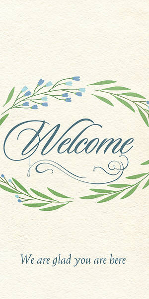 Picture of We Are Glad Welcome Guest Card