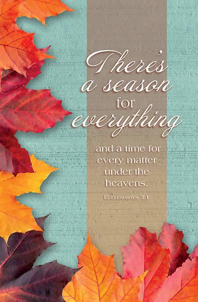 Picture of Fall Season Ecclesiastes 3:1 Bulletin Regular